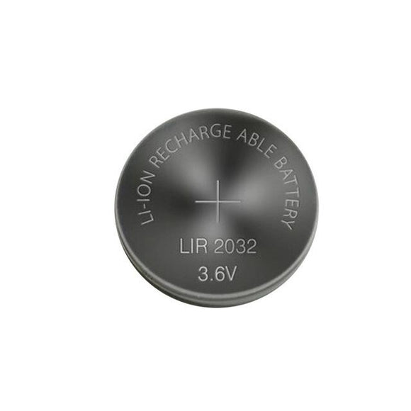 Lithium Rechargeable Coin Cell Battery (3.6V LIR2032 20mm Li-Ion)