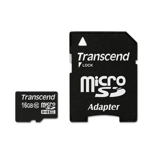 Transcend Class10 16GB microSDHC Card with Adapter (great for Raspberry Pi)
