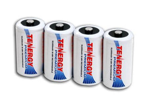 Tenergy Premium D 10000mAh High Capacity NiMh Rechargeable Battery (4-pack)
