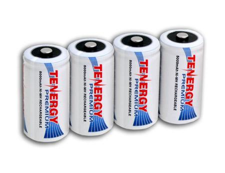 Tenergy Premium C 5000mAh High Capacity NiMH Rechargeable Battery (4-pack)