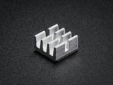 "Aluminum Adhesive Heat Sinks (10-pack 0.25"" x 0.25"" x 0.15"" tall)"