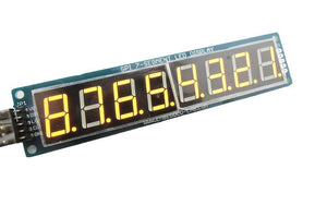 8-Digit SPI 7-Segment LED Display (Yellow)