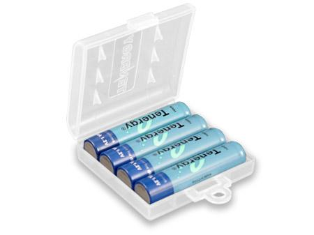 Tenergy NiMH Rechargeable Battery with Holder (4x AAA 1000mAh)