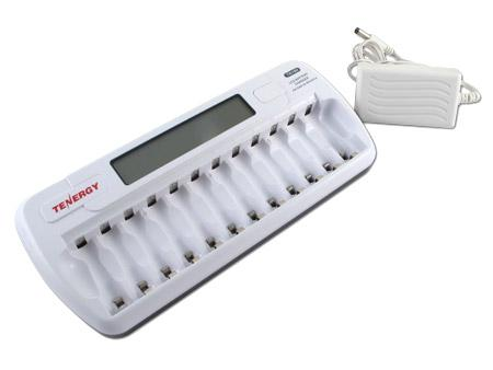 Tenergy TN160 12-Bay AA / AAA NiMH/NICD Smart Battry Charger with LCD indicator