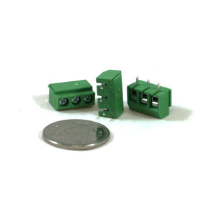 Screw Terminal Green (5.0mm Pitch 3-pin 3-pack)