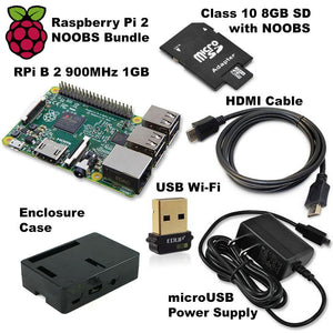 CAROBOT Raspberry Pi B 2 Starter Bundle (with 8GB microSD Card and Wi-fi)