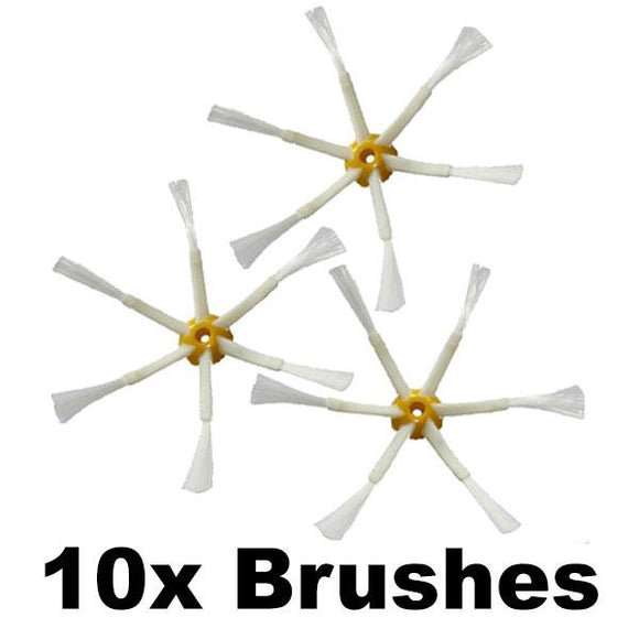 Replacement Side Brush for iRobot Roomba 700, 600 and 500 Series (6 Legs, 10 Brushes) [Scratch & Bent]