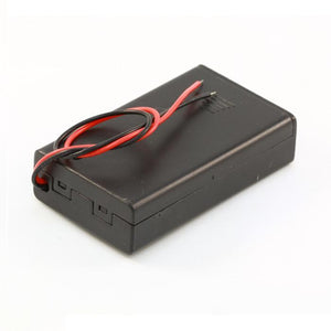 3-AAA Battery Holder, Enclosed with Switch
