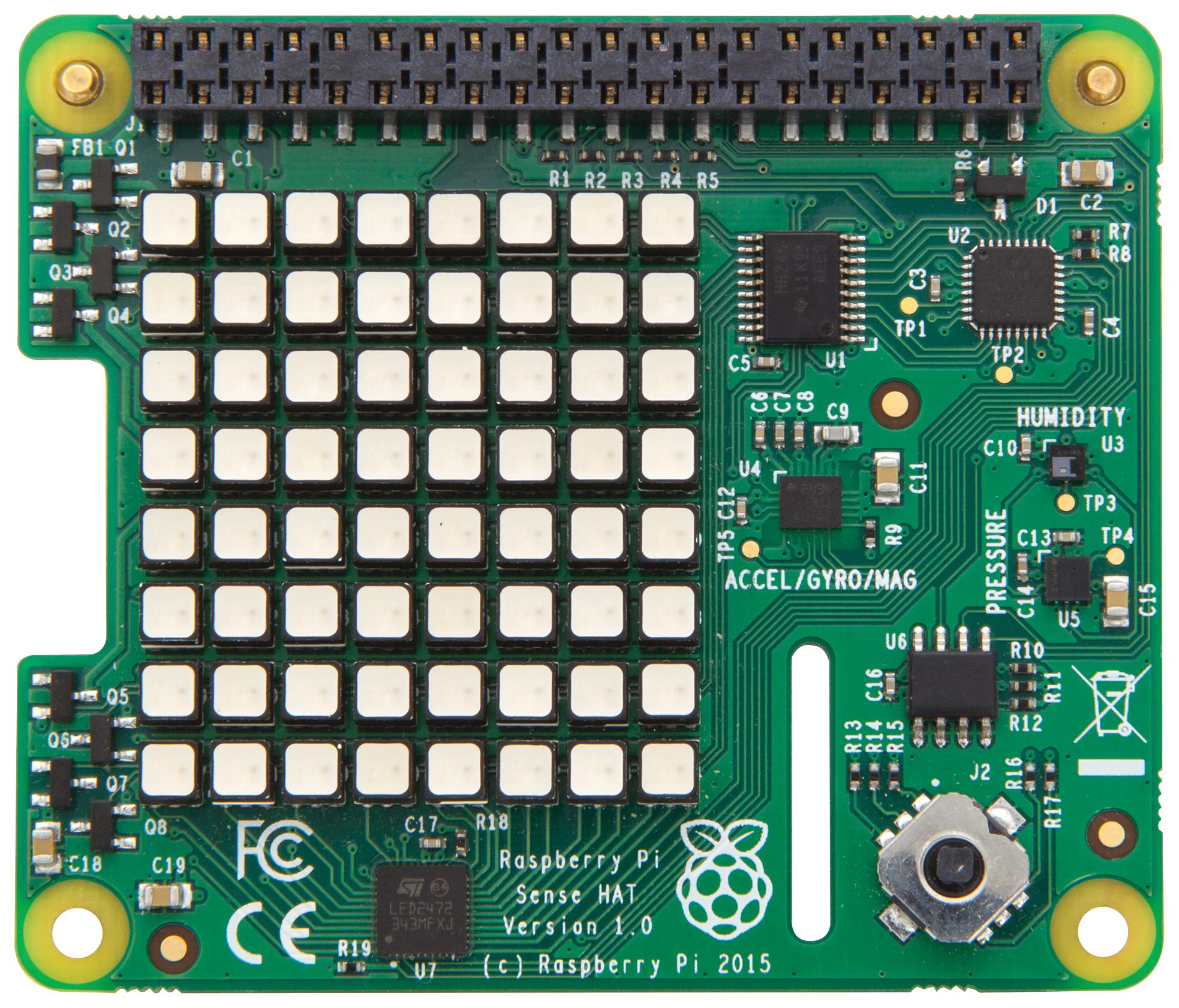 Raspberry Pi Sense HAT (with Orientation, Pressure, Humidity and