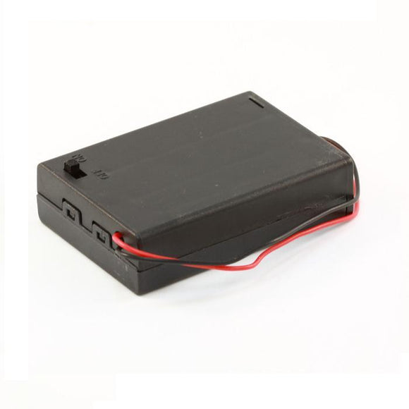 3-AA Battery Holder, Enclosed with Switch