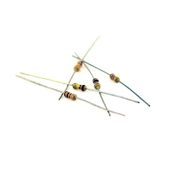 1k Ohm Carbon Film Resistor 1/4W 5% (100pcs)