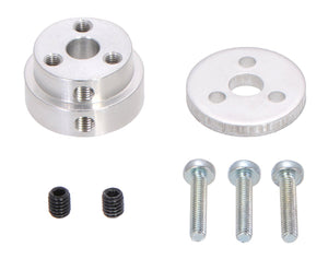 "Pololu Aluminum Scooter Wheel Adapter for 1/4"" Shaft"