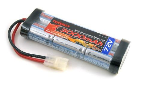 Tenergy 7.2V 3000mAh Flat NiMH High Power Battery Pack w/ Tamiya