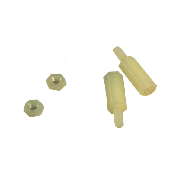 Nylon M2.5 Standoff for Pi HATs (M2.5x11mm Hex, 2pcs)