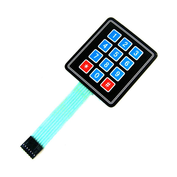 Sealed Keypad with Sticker (12 Buttons)