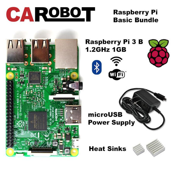 CAROBOT Raspberry Pi 3 B Basic Kit