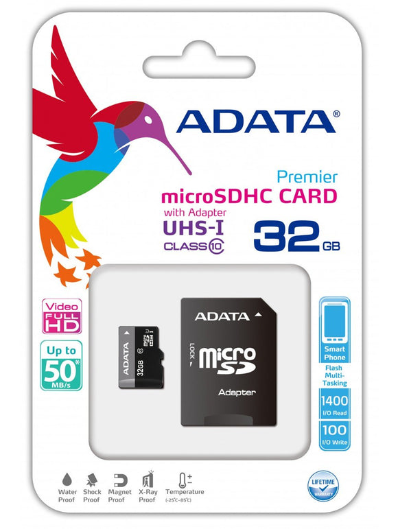 ADATA Premier 32GB microSDHC Class 10  Card (great for Raspberry Pi)
