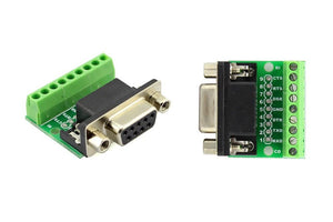 9Pin DB9 Solderless Terminal RS232 RS485 Adapter Connector