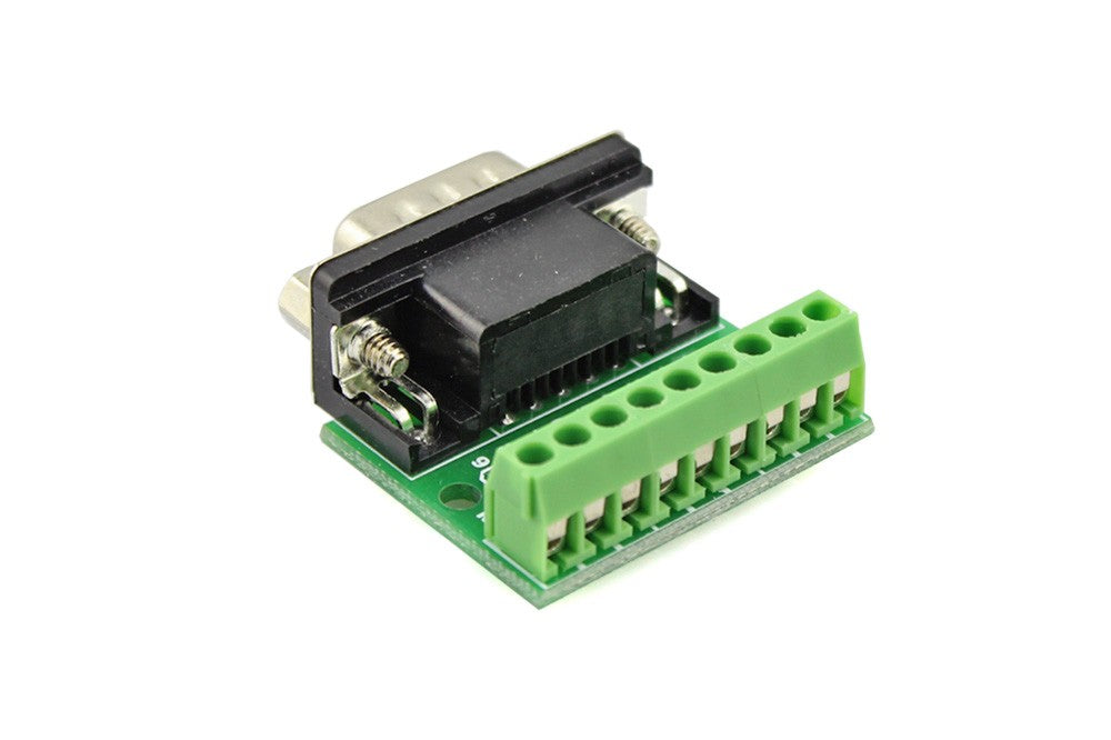 9Pin DB9 Solderless Terminal RS232 RS485 Adapter Connector - Female