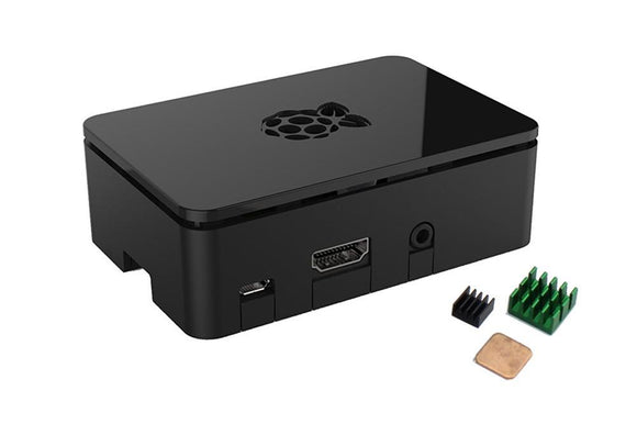 ABS Enclosure/Case for Raspberry Pi 3 B, 2 B, B+ with Heat Sink Kit (Black)