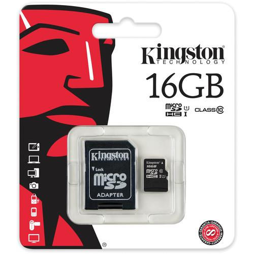 Kingston Technology 16GB microSDHC Class 10 Card (great for Raspberry Pi)