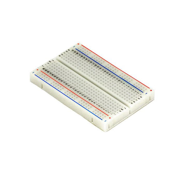 400 Tie Point Solderless Breadboard with Self-Adhesive (White)