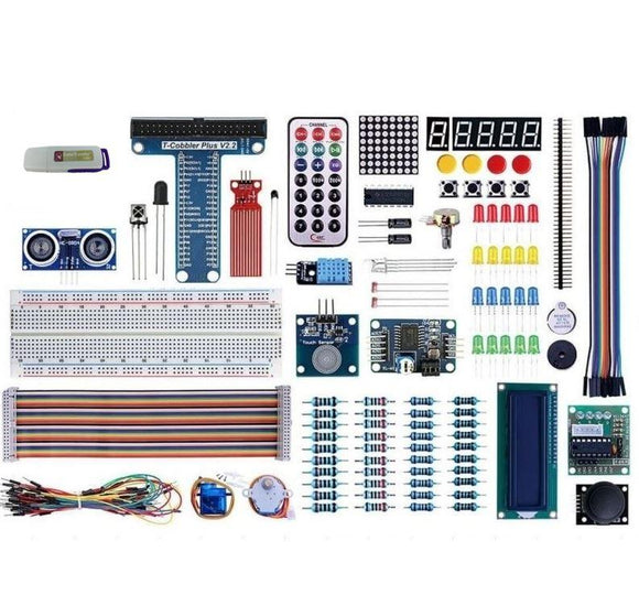 CAROBOT Electronics Starter Bundle (great for Arduino + Raspberry Pi)
