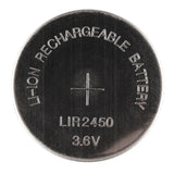 Rechargeable Li-Ion Coin Cell Battery (3.6V LIR2450 24.5mm)