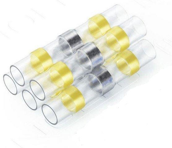 Solder Seal Wire Connector (Yellow, 12-10AWG, 4.0-6.0mm2, 5pcs)