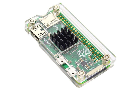 Case for Raspberry Pi Zero with Heat Sink (Transparent)