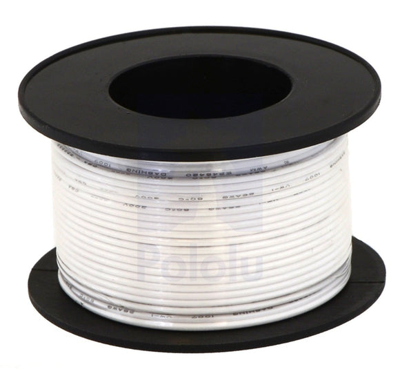Stranded Wire (White, 22 AWG, 50 Feet)