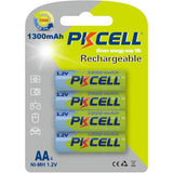 PKCELL NiMH Rechargeable Battery (4x AA 1300mAh)