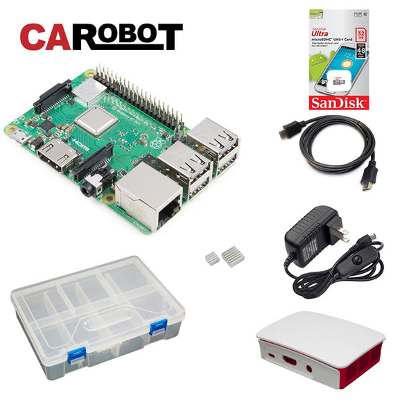 CAROBOT Raspberry Pi 3 B+ Starter Bundle (with 32GB SD Card)