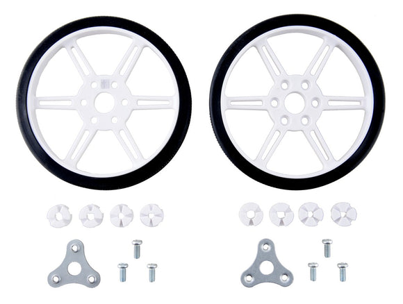 Pololu Multi-Hub Wheel 80x10mm Pair (White)