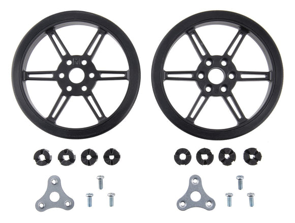 Pololu Multi-Hub Wheel 80x10mm Pair (Black)