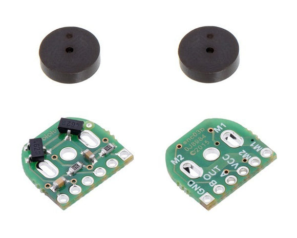 Pololu Magnetic Encoder Pair Kit for Micro Metal Gearmotors,12 CPR, 2.7-18V (HPCB compatible)