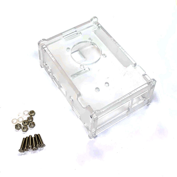 Acrylic Enclosure/Case for Raspberry Pi 4 B with Fan and GPIO slot (Clear Transparent)