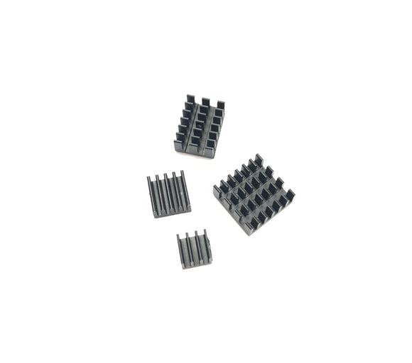 Heat Sink Kit for Raspberry Pi 4 B (4pcs Set Black)