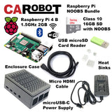 CAROBOT Raspberry Pi 4 B Starter Bundle (2GB RAM with 16GB SD Card)