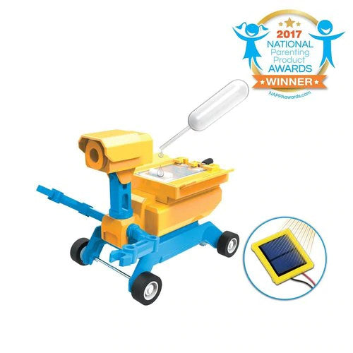 Tenergy Odev STEM Educational Kit - Geo Salt Water Powered & Solar Powered 2-in-1 Robot Kit
