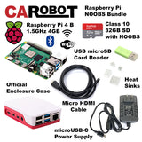 CAROBOT Raspberry Pi 4 B Starter Bundle (4GB RAM with 32GB SD Card)