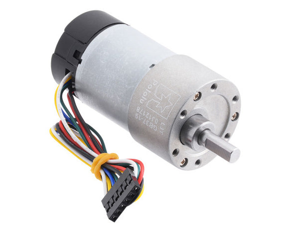 Pololu 19:1 Metal Gearmotor 37Dx68L mm 12V with 64 CPR Encoder (Helical Pinion)