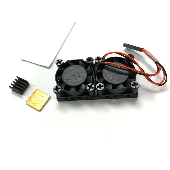 Dual Cooling Fans with Radiator for Raspberry Pi 3B+/4B