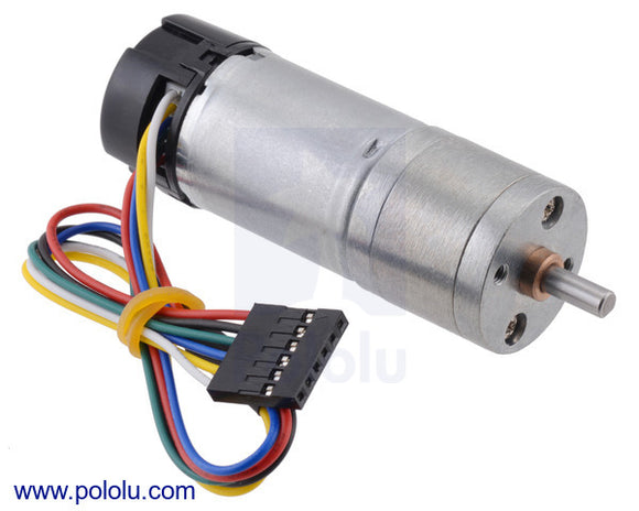 Pololu 4.4:1 Metal Gearmotor 25Dx63L mm MP 12V with 48 CPR Encoder