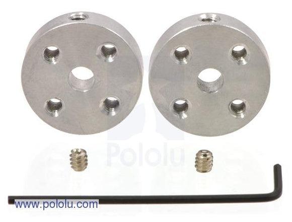 Universal Aluminum Mounting Hub Pair (4mm Shaft 4-40 Holes)