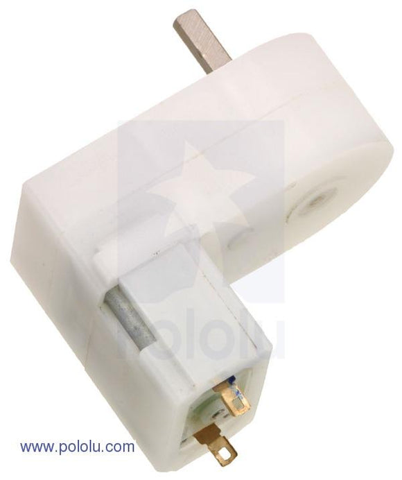 Pololu 120:1 Mini Plastic Gearmotor Offset 3mm (D-Shaft Output)