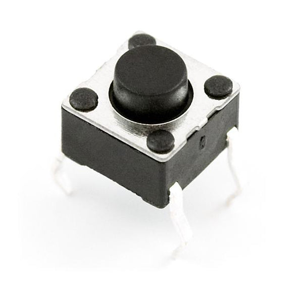 Momentary Push Button/Tactile Switch (Mini 6mm Square 4 Legs)