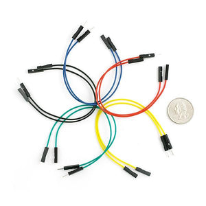 "Premium Jumper Wires M/F (6"" 10pcs)"