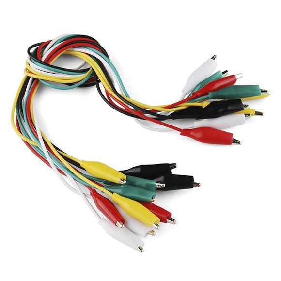 Alligator Test Leads (10 Pack Multi-coloured)