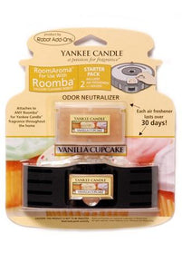 Yankee Candle Air Freshener for Roomba (Vanilla Cupcake RoomAroma Starter Pack)